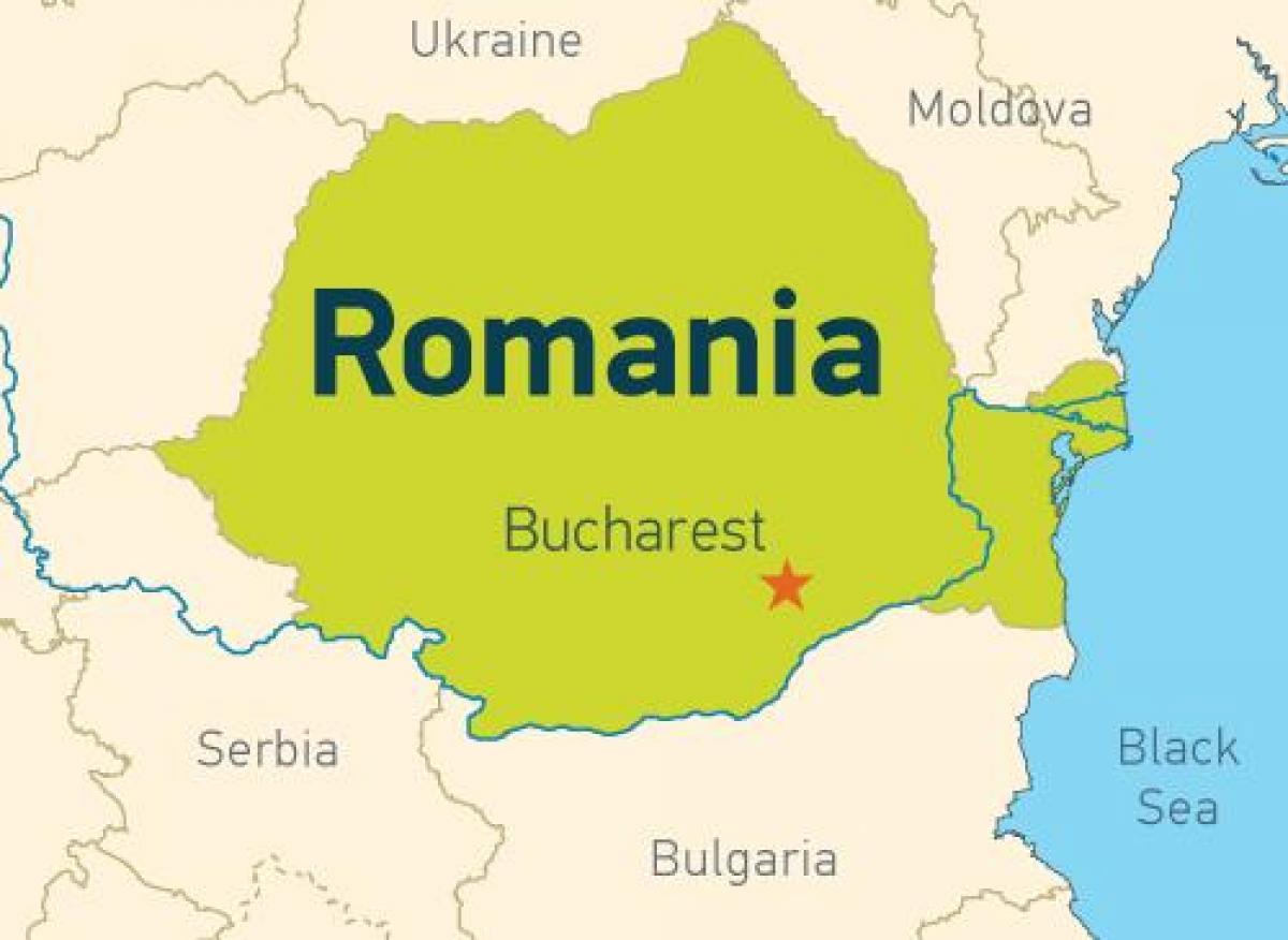 Bucharest on map - Bucharest on a map (Romania)